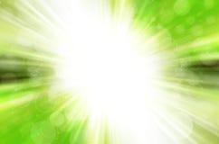 Zielony bokeh z okręgu tłem Obraz Royalty Free