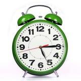 Zielony budzik Zdjęcie Royalty Free