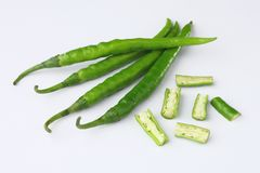 zielony chili Zdjęcia Stock
