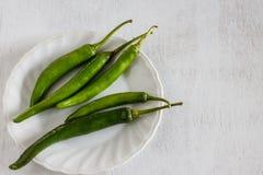 zielony chili Zdjęcia Royalty Free