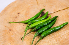 Zielony chili pieprz. Obrazy Royalty Free