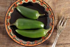 Zielony Chillis Zdjęcie Royalty Free