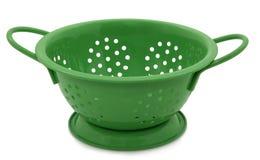 zielony colander biel zdjęcie stock