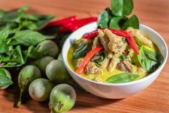 Zielony curry Chickenon zdjęcia royalty free