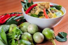 Zielony curry Chickenon fotografia stock