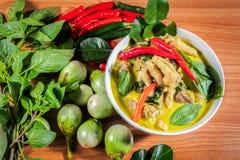 Zielony curry Chickenon obrazy royalty free