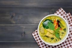 Zielony curry z kurczakiem Obraz Stock