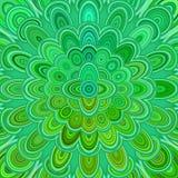 Zielony cyfrowy kwiatu mandala sztuki tło - wektorowego kurenda wzoru graficzny projekt ilustracji
