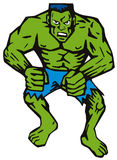 zielony człowiek mięśnie royalty ilustracja