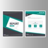 Zielony czarny Abstrakcjonistyczny broszurka raportu ulotki magazynu prezentaci elementu szablonu a4 rozmiar ustawia dla reklamow Fotografia Royalty Free