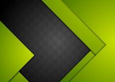 Zielony czarny materialny abstrakcjonistyczny tło royalty ilustracja