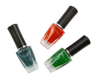 Zielony czerwony błękitny gwóźdź Fotografia Stock