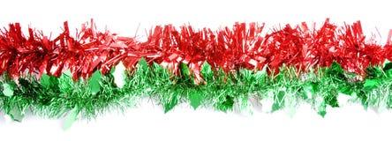 zielony czerwony paska świecidełko Zdjęcie Royalty Free