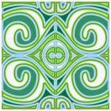 Zielony dekoracja wzór Zdjęcie Stock