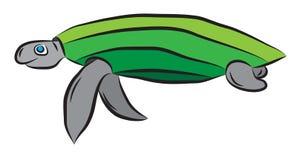 Zielony dennego żółwia dopłynięcie w wodzie Obrazy Stock