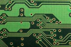 Zielony Deskowy elektroniczny drukowany obwód deski PCB Fotografia Stock