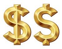 Zielony dolar Obrazy Royalty Free