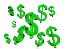 Zielony dolarowy znak Obraz Stock