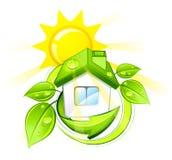 zielony dom ilustracja wektor