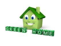 zielony dom Zdjęcie Stock