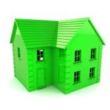 Zielony dom Obraz Stock