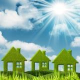 Zielony dom. Obraz Stock