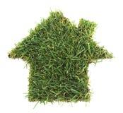 zielony dom Zdjęcia Stock