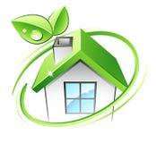zielony dom Zdjęcia Royalty Free