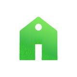 Zielony dom, domowa ikona, życiorys ekologia, odizolowywająca Obrazy Royalty Free