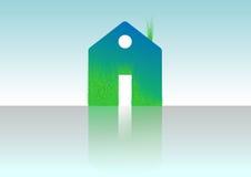Zielony dom, domowa ikona, życiorys ekologia, Fotografia Royalty Free