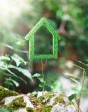 Zielony dom robić z trawą, ekologia Fotografia Stock