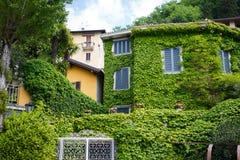 Zielony dom w Varenna Zdjęcie Royalty Free