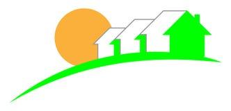 zielony domowy logo Obrazy Royalty Free