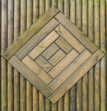 Zielony drewna ogrodzenia wzór ilustracja wektor