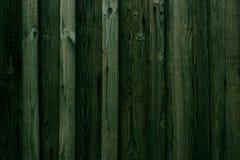Zielony Drewniany deski tło Zielona drewniana ścienna tekstura Deski przybijają z pionowo teksturą i kolor jest jednakowy Zdjęcia Stock