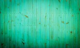 Zielony drewniany tło. Zdjęcie Royalty Free
