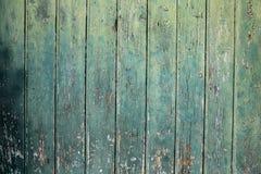 Zielony drewniany tło Obrazy Stock