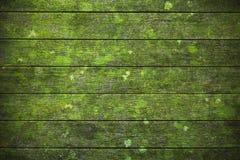 Zielony drewniany tło Fotografia Stock