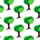 Zielony Drzewny Bezszwowy wzór Royalty Ilustracja