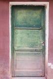 Zielony drzwi Obrazy Royalty Free