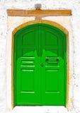 Zielony drzwi Obrazy Stock