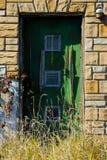 Zielony drzwi Zdjęcia Royalty Free