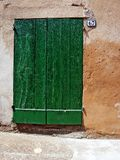 Zielony drzwi Obraz Stock