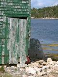 Zielony drzwi Obraz Royalty Free