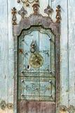 Zielony drzwi w Sousse, Tunezja fotografia stock