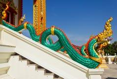 Zielony duży wąż Obrazy Stock