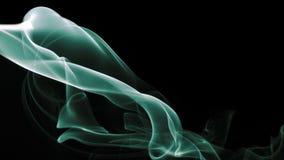 Zielony dym Na Czarnym tle Obraz Stock