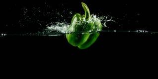 Zielony Dzwonkowy pieprz Obrazy Royalty Free