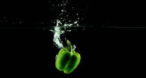 Zielony Dzwonkowy pieprz Fotografia Stock