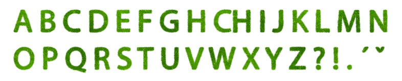 Zielony eco abecadło Zdjęcie Stock